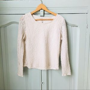 White Stag Lace Top